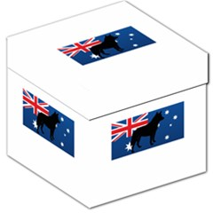 Australian Cattle Dog Silhouette on Australia Flag Storage Stool 12
