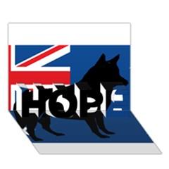 Australian Cattle Dog Silhouette on Australia Flag HOPE 3D Greeting Card (7x5)