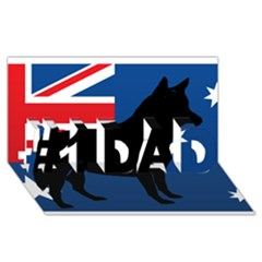 Australian Cattle Dog Silhouette on Australia Flag #1 DAD 3D Greeting Card (8x4)