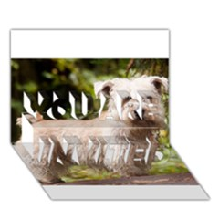 Glen Of Imaal Full wheaton YOU ARE INVITED 3D Greeting Card (7x5)