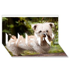 Glen Of Imaal Full wheaton PARTY 3D Greeting Card (8x4)