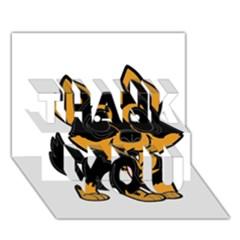 Lancashire Heeler Cartoon THANK YOU 3D Greeting Card (7x5)