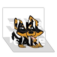 Lancashire Heeler Cartoon TAKE CARE 3D Greeting Card (7x5)