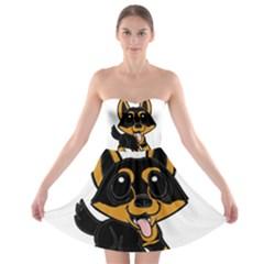 Lancashire Heeler Cartoon Strapless Bra Top Dress