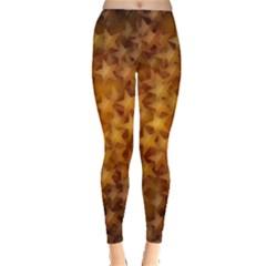 Gold Stars Women s Leggings