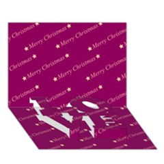 Merry Christmas,text,bordeaux Love Bottom 3d Greeting Card (7x5)