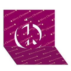 Merry Christmas,text,bordeaux Peace Sign 3D Greeting Card (7x5)