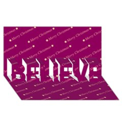 Merry Christmas,text,bordeaux BELIEVE 3D Greeting Card (8x4)