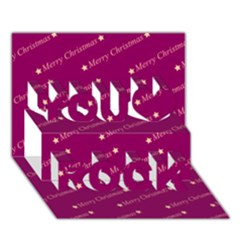 Merry Christmas,text,bordeaux You Rock 3d Greeting Card (7x5)