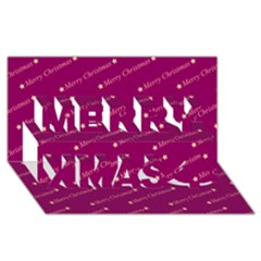 Merry Christmas,text,bordeaux Merry Xmas 3d Greeting Card (8x4)