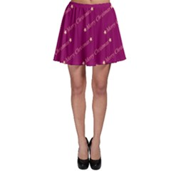 Merry Christmas,text,bordeaux Skater Skirts