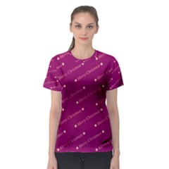 Merry Christmas,text,bordeaux Women s Sport Mesh Tees
