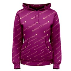 Merry Christmas,text,bordeaux Women s Pullover Hoodies
