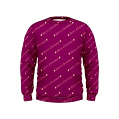 Merry Christmas,text,bordeaux Boys  Sweatshirts