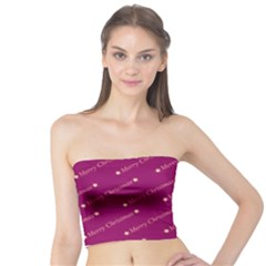 Merry Christmas,text,bordeaux Women s Tube Tops