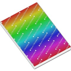 Merry Christmas,text,rainbow Large Memo Pads