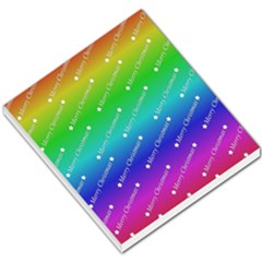 Merry Christmas,text,rainbow Small Memo Pads
