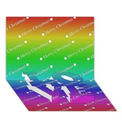 Merry Christmas,text,rainbow Love Bottom 3d Greeting Card (7x5)