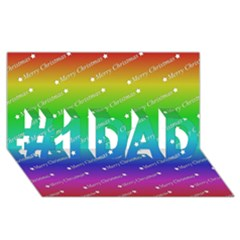 Merry Christmas,text,rainbow #1 DAD 3D Greeting Card (8x4)