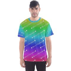 Merry Christmas,text,rainbow Men s Sport Mesh Tees