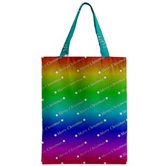 Merry Christmas,text,rainbow Classic Tote Bags