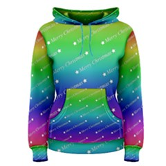 Merry Christmas,text,rainbow Women s Pullover Hoodies
