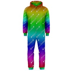 Merry Christmas,text,rainbow Hooded Jumpsuit (Men)