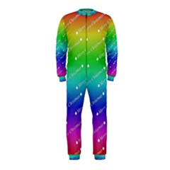 Merry Christmas,text,rainbow Onepiece Jumpsuit (kids)