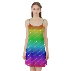 Merry Christmas,text,rainbow Satin Night Slip