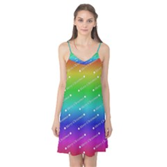 Merry Christmas,text,rainbow Camis Nightgown