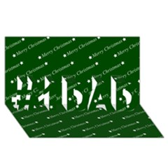 Merry Christmas,text,green #1 Dad 3d Greeting Card (8x4)