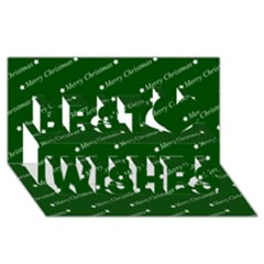 Merry Christmas,text,green Best Wish 3d Greeting Card (8x4)