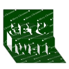 Merry Christmas,text,green Get Well 3d Greeting Card (7x5)