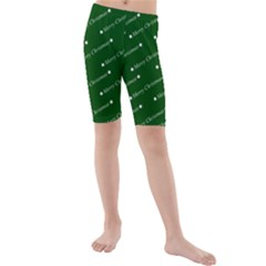Merry Christmas,text,green Kid s swimwear