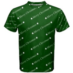 Merry Christmas,text,green Men s Cotton Tees