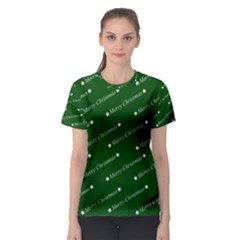 Merry Christmas,text,green Women s Sport Mesh Tees