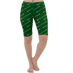 Merry Christmas,text,green Cropped Leggings