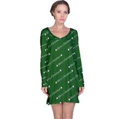 Merry Christmas,text,green Long Sleeve Nightdresses