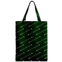 Merry Christmas,text,green Zipper Classic Tote Bags
