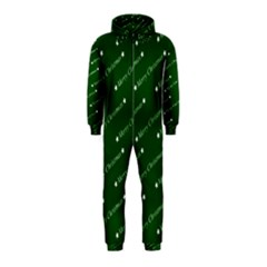 Merry Christmas,text,green Hooded Jumpsuit (Kids)