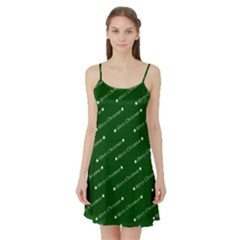 Merry Christmas,text,green Satin Night Slip