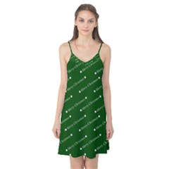 Merry Christmas,text,green Camis Nightgown