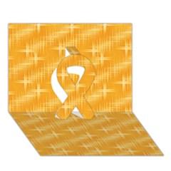 Many Stars, Golden Ribbon 3d Greeting Card (7x5)