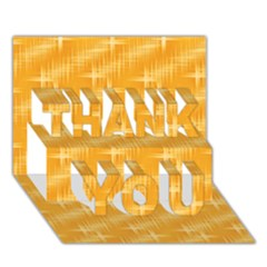 Many Stars, Golden THANK YOU 3D Greeting Card (7x5)