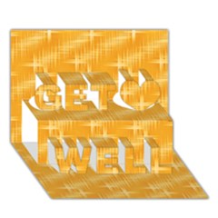 Many Stars, Golden Get Well 3D Greeting Card (7x5)