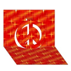 Many Stars,red Peace Sign 3D Greeting Card (7x5)