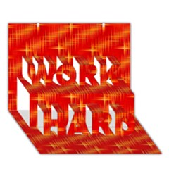 Many Stars,red WORK HARD 3D Greeting Card (7x5)
