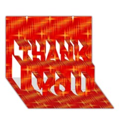 Many Stars,red THANK YOU 3D Greeting Card (7x5)