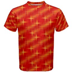 Many Stars,red Men s Cotton Tees