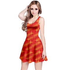 Many Stars,red Reversible Sleeveless Dresses